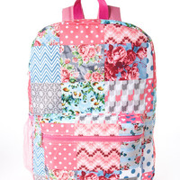 Cudlie Pink & Blue Patchwork Backpack | zulily