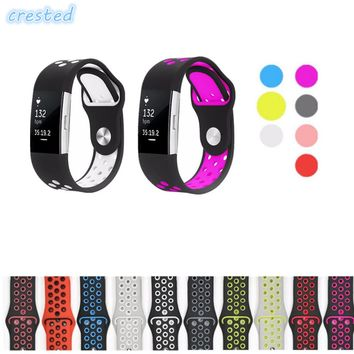 CRESTED sport watch band Strap for fitbit charge 2 band Silicone strap For nike Fitbit charge 2 bracelet smart wristbands