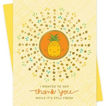 Fresh Pineapple Card