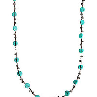 Lucky Brand Turquoise Hammered Coin Necklace - Turquoise