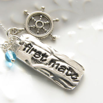 Romantic First Mate Necklace Nautical Gift for Wife or Girlfriend Anniversary Sterling Silver Pendant