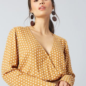 Polka Dot Surplice Top