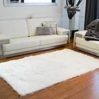 Hudson Faux Fur 5' X 8' Rectangular Rug - Off White