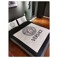 Home Decor VERSACE Blanket Quilt coverlet Pillow shams 4 PC Bedding SET