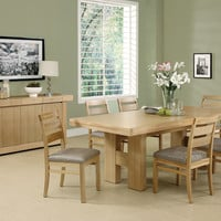 "Dining Table - 39""X 71""X 87"" - Natural Oak With A Leaf"