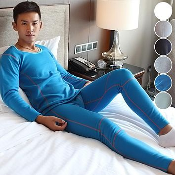 High Quality Man Long Johns Sets Men's Thicken Thermal Underwear Set Male Warm Tops and Pants