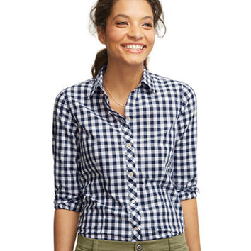 Women's Signature Lightweight Poplin Shirt, Gingham | Now on sale at L.L.Bean