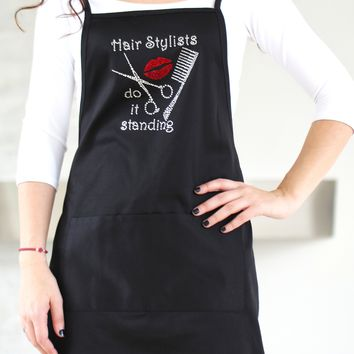 Hair Stylists Do It Standing Apron