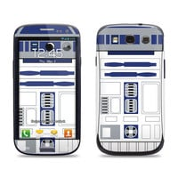 Samsung Galaxy S3 Phone Case Cover Decal - r2d2 GLOSSY MATTE LEATHER option