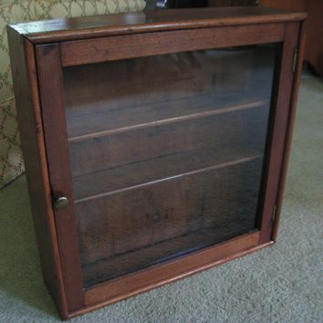 Antique Medicine Cabinet, Wall Cabinet, Display, Curio