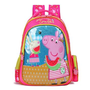 2017 children cartoon my little pony schoolbag girl lovely backpack schoolbag For children children Christmas gift bags pig pink