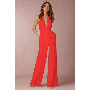 Backless Jumpsuits Romper