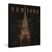Cities at Night II Canvas Wall Art