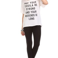 Tequila and Long Weekends Graphic Top