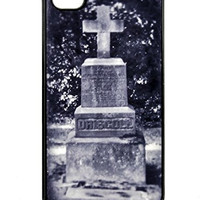 Gothic Cross Tombstone iPhone 4 / 4s Case Cemetery Hard Plastic