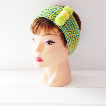 Handmade Knitted Headband, Knitted Accessories, Hair Accessories, Womens Accessories, Little Girl's Knitted Headband, Crochet Headband