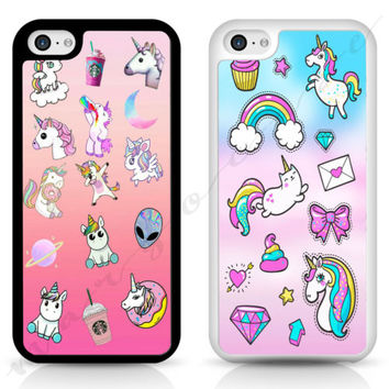 Unicorn UFO Starbucks donut Stickers Phone Case Cover For iPhone Samsung iPod | eBay