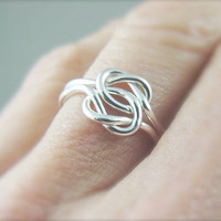 Sterling Silver Love Knot Ring / Celtic Knot Ring / Memory Ring / Argentium Silver Ring