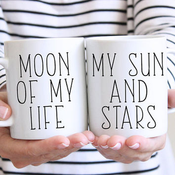 Moon Of My Life, My Sun And Stars Coffee Mug Set, Ceramic Mug, Valentines Day, Game Of Thrones, Boyfriend, Girlfriend gift, Anniversary Gift