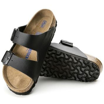 Sale Birkenstock Arizona Soft Footbed Birko Flor Black 0551251/0551253 Sandals
