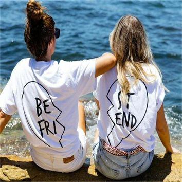 Best friend t shirts clasical black white Sisters shirt for women tumblr instagram BFF t-shirt Female Printed Wings tee T-F11136