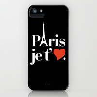 Paris je t'aime iPhone & iPod Case by RexLambo