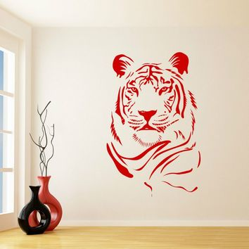 G236 Large Cat Lion Tiger Animal removed Vinyl Wall Stickers Art Decal for kids room Home Decor art wall room decoration