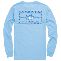 Long Sleeve Original Skipjack Tee in Ocean Channel by Southern Tide