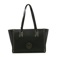 Versace Black Two Handles Leather Shopping Bag