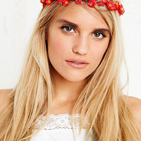 Garden Head Cherry Blossom Crown in Red - Urban Outfitters
