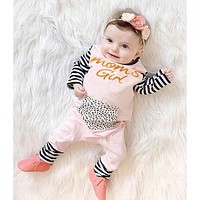 new 2016 infant newborn baby romper baby girls clothes long sleeve baby rompers leopard cotton baby girl clothing jumpsuit