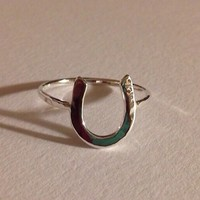Horse shoe ring, Good luck ring, Lucky ring, horse shoe