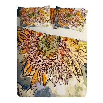 Ginette Fine Art Sunflower Prickly Face Sheet Set Lightweight