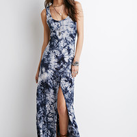 Tie-Dye High-Slit Maxi Dress