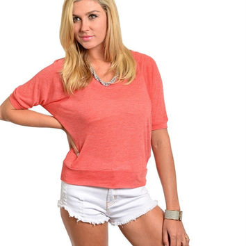 Sweet Escape Top / Coral