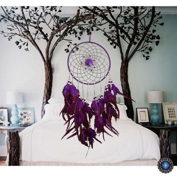 Lovely Purple Rose Dream Catcher