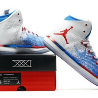 Nike Air Jordan 31 XXXI Retro White/Blue/Red Basketball Sneak Size US 8-13