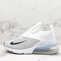 Nike Air Max 270 Flyknit Black White Running Shoes - Best Deal Online