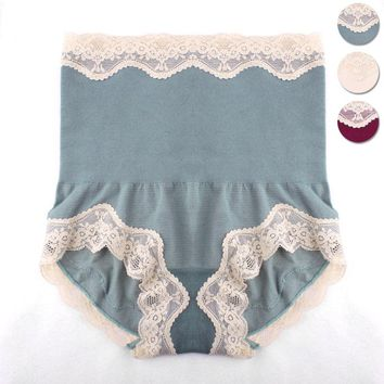 High waist briefs lace underwear collection abdomen stomach lady panties postpartum shaping underpants slimming shape knickers