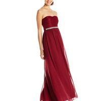 Speechless Juniors' Strapless Maxi Social Dress with Beaded Waist