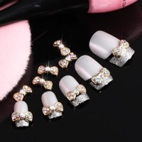 350buy 10x3D Alloy Colorful Butterfly Tie Rhinestones Nail Art Glitters DIY Decoration