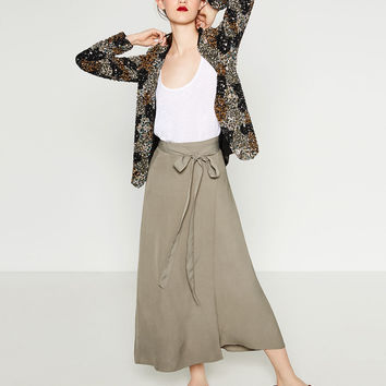WRAP SKIRT - Maxi-SKIRTS-WOMAN | ZARA United States