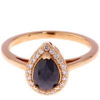 Anna Sheffield Gold Black Diamond Pear Rosette Ring | Jewellery | Liberty.co.uk