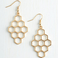 Boho Honeycomb Away with Me Earrings by ModCloth