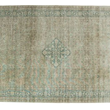 6.5x10 Vintage Distressed Tabriz Carpet