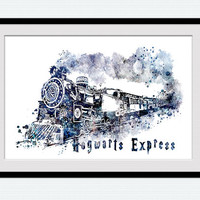Harry Potter watercolor art print Hogwarts express colorful poster Harry Potter art decor Home decoration Kids room art Nursery decor W530