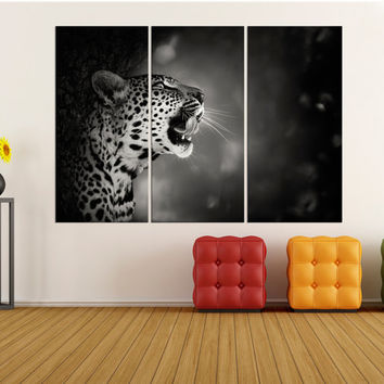 Large wall art for living room, tiger canvas print extra large wall art black and white canvas art, modern art print for home decor 8s36