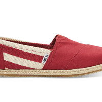 TOMS Red Stripe University Women's Classics Red