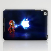 (Blu)Baby Ironman...damn apple! it's too hard to destroy!!!! iPad Case by Emiliano Morciano (Ateyo)