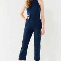 UO Hattie High-Neck Linen Jumpsuit | Urban Outfitters